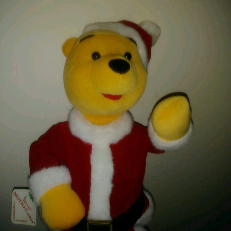 """Preowned: Dancing winnie the pooh  Plush 15"""" tall Jingle bells song pl"""