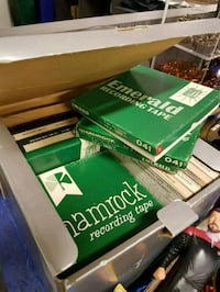 Box of hard to find Reel to Reel Music Tapes