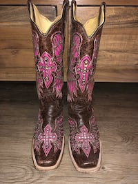 Corral Pink Cross and Wings Cowgirl Boots Duncanville, 75116