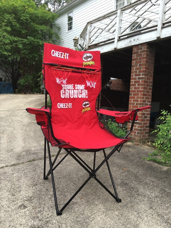 used red pringles cheez it camping chair for sale in wake forest letgo