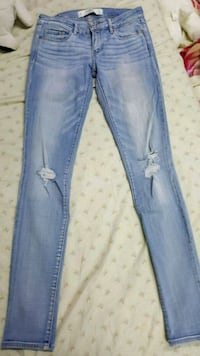 blue denim distressed fitted jeans West Babylon, 11704
