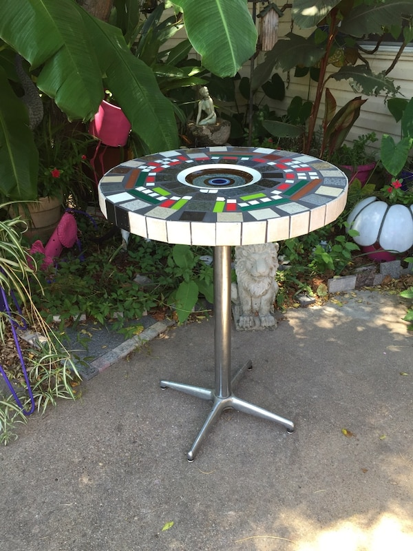 Pleasant Vintage Mosaic Side Bar Table Inlaid Artist Designed Mid Century Modern Mondrian Style Abstract Art Bar Home Interior And Landscaping Pimpapssignezvosmurscom