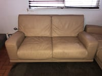 Free Leather Sofa and Love Seat as is.  Ready for pick up.