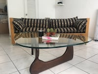 black and brown wooden coffee table Miami, 33137