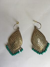 Anna beck sterling silver earrings with turquoise