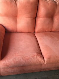 red fabric 3-seat sofa Bakersfield, 93313