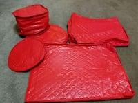 Quilted Vinyl cases for china and crystal glass Bayonne, 07002
