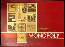 Vintage 64 Monopoly board game - New Price! Used, in great condition!