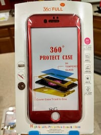 Red Iphone 8 360° protect case