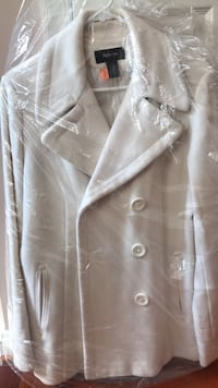 Off white Pee Coat size L  Macy Style and Co Odenton, 21113