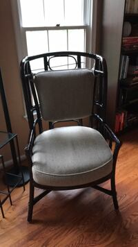 two black metal framed gray padded armchairs Gaithersburg, 20879