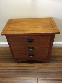 brown wooden 2-drawer nightstand Silver Spring, 20902