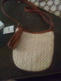 women's white and brown leather shoulder bag Tullahoma, 37388
