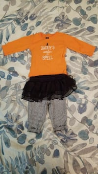 Girl's 2pc, HALLOWEEN outfit, size 3mth Roseville, 48066