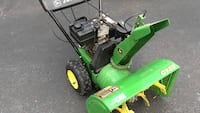 Green and black john deere snow blower 2 stage Waterford