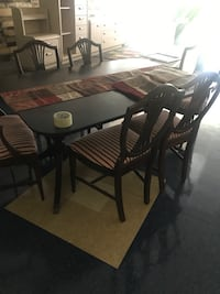 Antique table with 6 chairs Rome, 30165