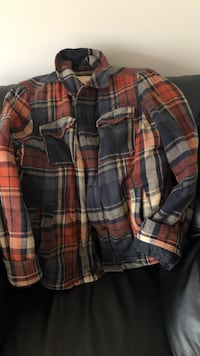 plaid Hollister barn jacket Toronto, M5H 4B6