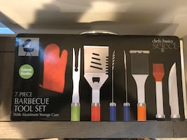 7 Piece BBQ tool set with Case - Brand new