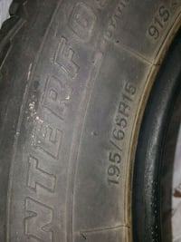 Winter tires basicly brand new off old lady car Niagara Falls, L2G 2G9