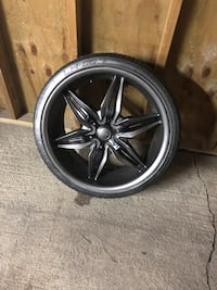 Akuza 5 spoke universal rims and tires 20 inches Chicago, 60618