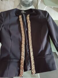 giacca nera con zip-up