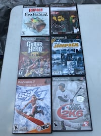 Six sony ps 2 game cases
