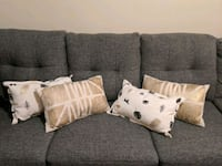 4 being white cream accent pillows for sale San Antonio, 78229