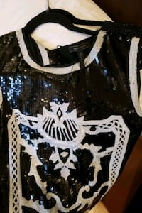 BCBG top sequinced