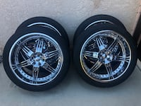 "Chip Foose 24"" wheels with tires 295/40R24 fits Suburban,Tahoe Lakeside, 92040"
