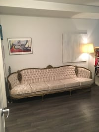 White and brown floral fabric sofa Vancouver, V6G 1B2