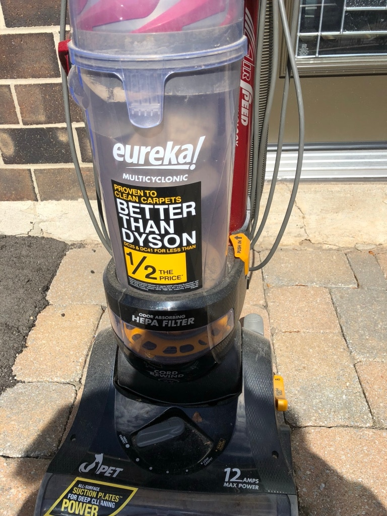 black and yellow Eureka upright vacuum cleaner for sale  Milton