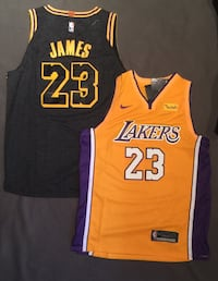 yellow and black Lakers 23 jersey Lebron Beaconsfield, H9W 1W9