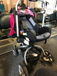 Stroller and car seat pivot