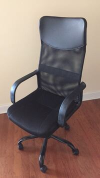 black leather office rolling armchair New York, 10026