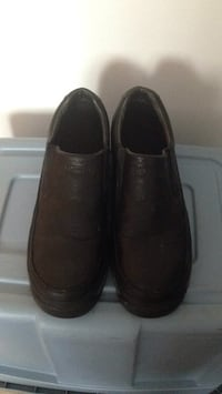 Pair of black leather slip-on shoes BREND NEW size 10 Winnipeg, R2M