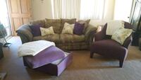 Living room set, multi color purple and green Los Angeles, 91364