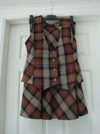 Skirt and vest set for woman East Gwillimbury