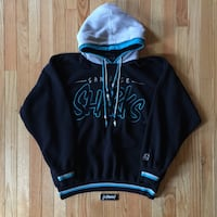 Vintage San Jose Sharks Hooded Pullover, size XL