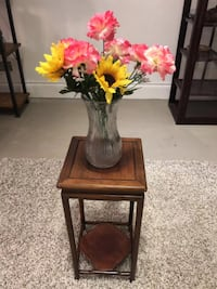 Small rosewood end table perfect for a vase Vancouver