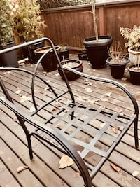 2 Metal Armchairs for Patio 3737 km