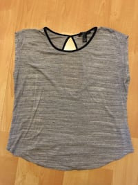 Forever 21 grey with black trim sleeveless top, ladies small - $5 Mississauga, L5L 5P5