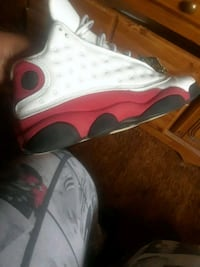 white-and-red Air Jordan 13 shoes Raeford, 28376