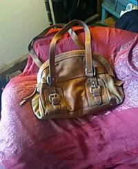 brown and black leather handbag Las Vegas, 89156