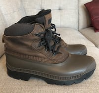 Sorely Kaufman Men's Insulated Lined Leather, Rubber Work Boots Size 10 Toronto, M8X 2W4