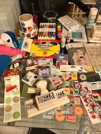 Scrapbooking Crafting and cake decorating supplies.
