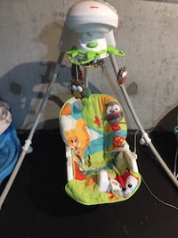 baby's green and white cradle n swing Ajax, L1T 4K7