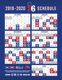 Sixers Tickets - Varying Costs (see details)