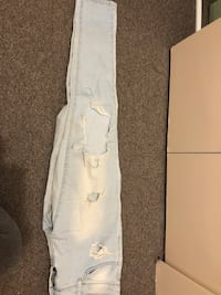 Light blue ripped jeans - size 26 Greater Vancouver, V6S