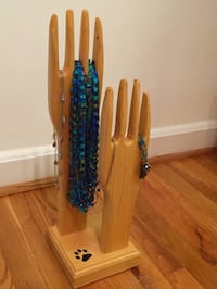 Wooden hands jewelry hanger art Arlington, 22204