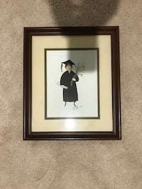 black wooden framed painting of woman 12 mi